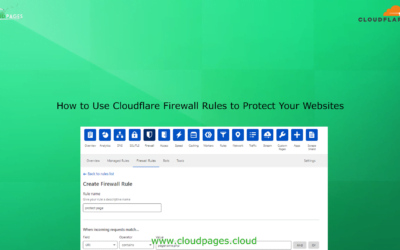 How to Use Cloudflare Firewall Rules to Protect Your Websites