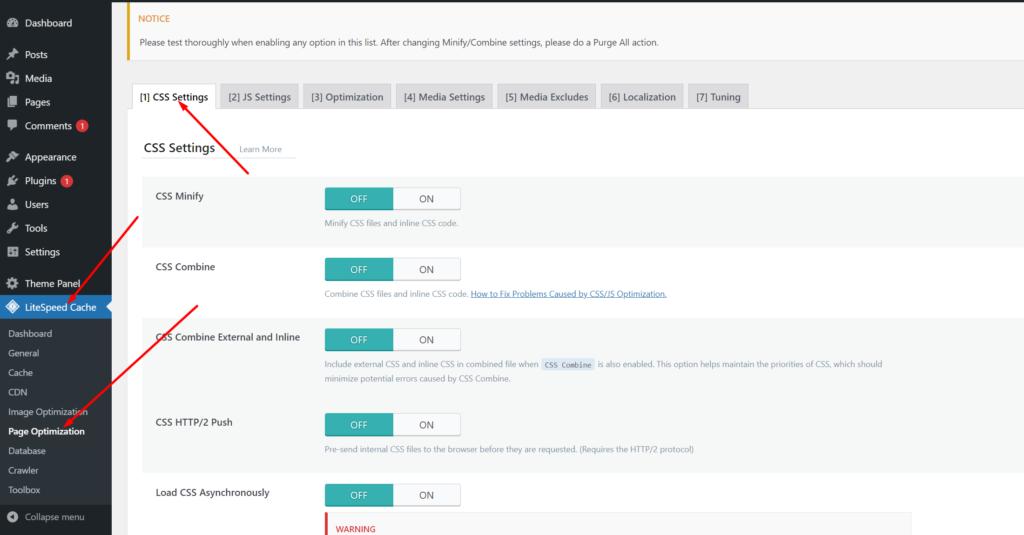 CSS optimizations